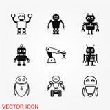 Robotsymbolsvektor Arkivfoton