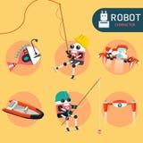 Robottecken royaltyfri illustrationer