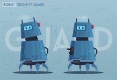 Robottecken Teknologi framtid den främmande tecknad filmkatten flyr illustrationtakvektorn stock illustrationer