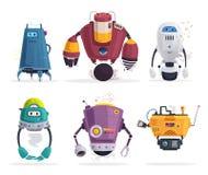 Robottecken Teknologi framtid den främmande tecknad filmkatten flyr illustrationtakvektorn royaltyfri illustrationer