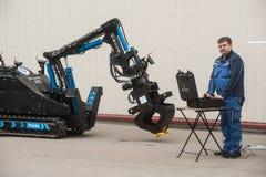 Robotteknikkomplex för arbete i utstrålningsolyckor arkivbilder