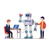 Robotteknikmaskinvaru- och programvaruteknik royaltyfri illustrationer