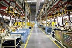 Robotteknikproduktionslinjer Fotografering för Bildbyråer