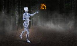 Robotteknologi, Futire, maskin, konstgjord intelligens arkivfoto
