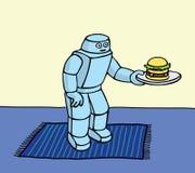 robottjänare Arkivfoton