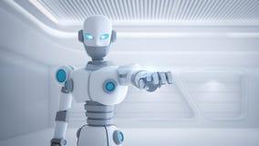 Robotvinger die, kunstmatige intelligentie in futuristisch richten stock illustratie