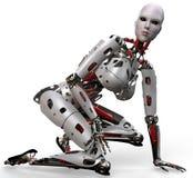 Robotvrouw pinup 2 Stock Afbeelding