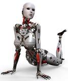 Robotvrouw pinup Stock Afbeelding