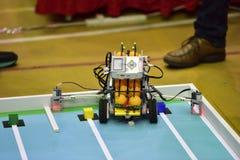 Robotwedstrijd Royalty-vrije Stock Foto's