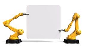 Roboty trzyma deskę Obraz Royalty Free