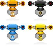 roboty ustawiają sieć ilustracja wektor