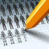 Roboty Zamienia pracowników ilustracji