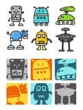 Robôs Imagens de Stock Royalty Free