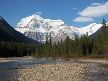 Free Robson River And Snow-covered Mount Robson In Spring, Canadian Rocky Mountains, British Columbia, Canada Stock Photos - 109796253