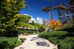 Robson Square en Vancouver céntrica Imagen de archivo