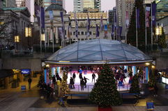 Robson Square Ice Rink Stock Photo
