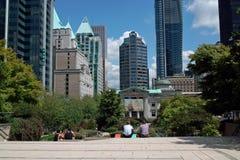 Robson Square, Vancouver AVANT JÉSUS CHRIST, Canada Photo stock