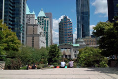 Robson Square, Vancouver BC, Canada Stock Photo