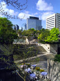 Robson Square Vancouver British Columbia Canada. Robson Square, garden oasis in the centre of downtown Vancouver British Columbia Canada royalty free stock photo