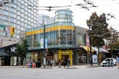 Robson Street Vancouver fotos de stock