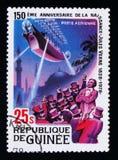 Robur besegraren, 150. årsdag av födelsen av Jules Verne serie, circa 1979 Royaltyfria Foton