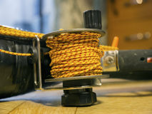 Robust coil with bright rope close up Royalty Free Stock Images