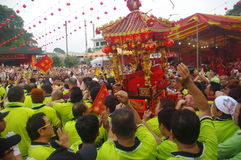 Robust devotees during Chingay festival Stock Photography