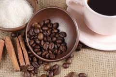 Robusta Coffee Beans Stock Photography
