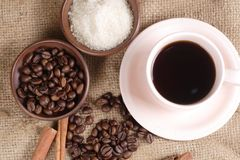Robusta Coffee Beans Royalty Free Stock Photography