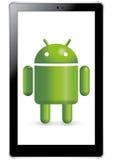 Robusteza androide en tablilla Imagen de archivo libre de regalías