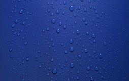 Rocío en parte posterior del azul Imagen de archivo