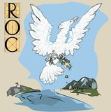 Roc bird with title Royalty Free Stock Image