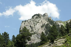 Roc de la musique peak in Ariege, France. Roc de la musique peak in Ariege, Occitanie in south of France Royalty Free Stock Photos
