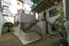 Roc de Sant Gaieta ett ställe som är Arkivfoto
