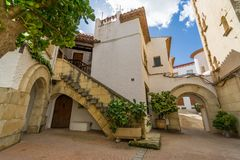 Roc de Sant Gaieta ett ställe som är Arkivbilder