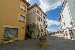 Roc de Sant Gaieta ett ställe som är Royaltyfri Fotografi