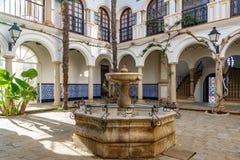 Roc de Sant Gaieta by i Tarragona Arkivbild