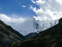 Roc Noir and Tilicho from Tilicho base camp, Nepal Stock Photo