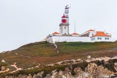 roca Португалии маяка da cabo Стоковое Изображение
