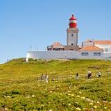roca Португалии маяка da cabo Стоковое фото RF