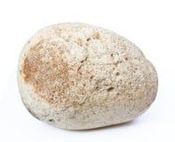 Roca aislada en blanco Imagenes de archivo