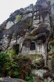 Roca alemana del otoño de la naturaleza Imagen de archivo