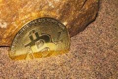 Roca anaranjada 1 de Bitcoin Imagen de archivo libre de regalías