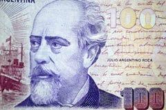 100 roca argentino Аргентины julio песо Стоковая Фотография RF