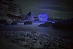 Roca azul Imagenes de archivo