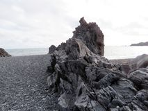 Roca basáltica 2017 de Islandia Londrangar Foto de archivo