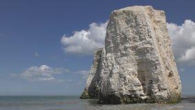 Roca blanca en la orilla de mar almacen de metraje de vídeo