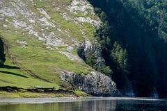 Roca blanca en un río Agidel Fotos de archivo libres de regalías
