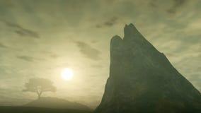 Roca brumosa Imagenes de archivo