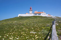 Roca cape lighthouse Royalty Free Stock Image
